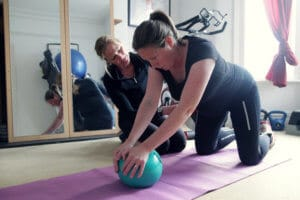 Pregnancy fitness support and exercise.