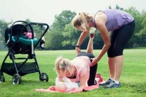 Classes for postnatal mums.