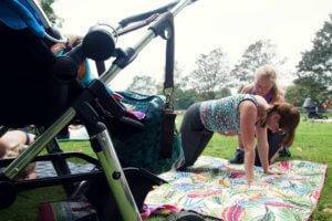Vicki Hill Women's fitness classes for postnatal mums.