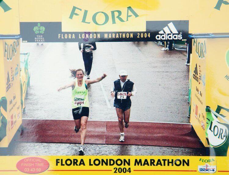 Vicki Hill running the London Marathon