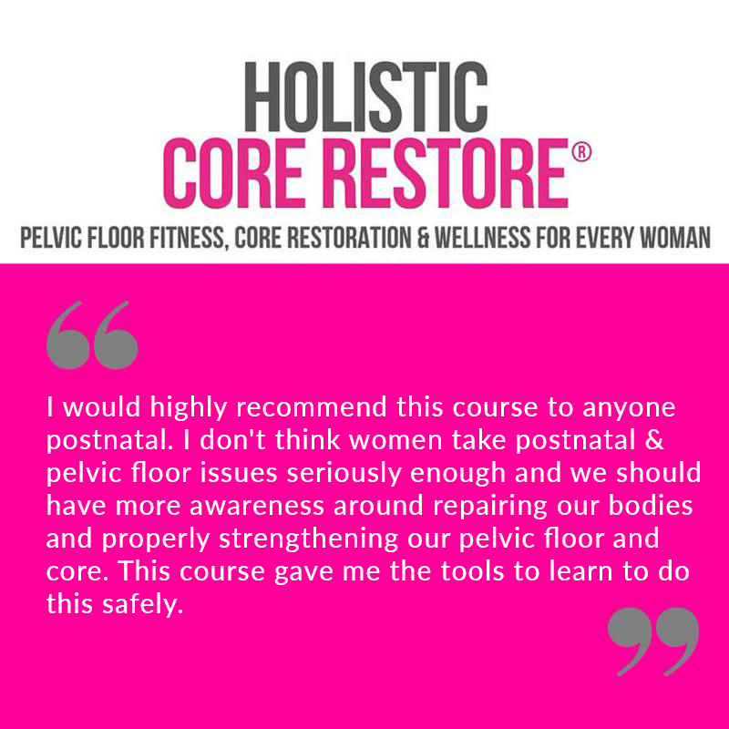 Recommendations from HCR classes pelvic floor fitness.