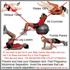 Exercise to avoid during pregnancy and postnatal
